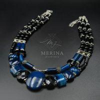 Ожерелье из агата Вечернее рандеву