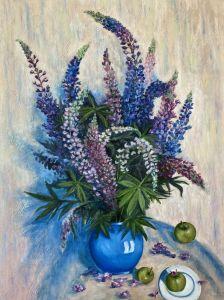 Картини маслом Букет люпинов