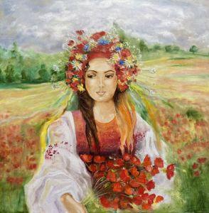 Картини маслом Українка