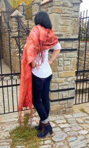 Модная женская одежда Палантин Коралл