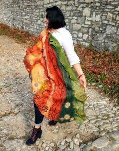 Палантини ручної роботи Осінні барви