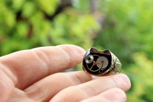 Мужское кольцо в стиле стимпанк