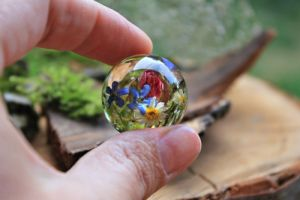 Crafters Кулон куля з квітами