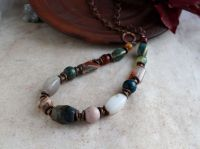 Ожерелье из камня, бусы из яшмы и агата