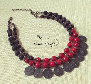 Ожерелье из коралла Елизавета