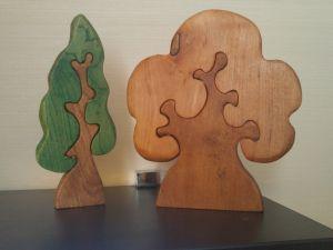 Изделия из дерева ручной работы Деревья - пазлы