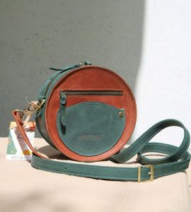 Мужские сумки ручной работы Круглая сумка Kvoka