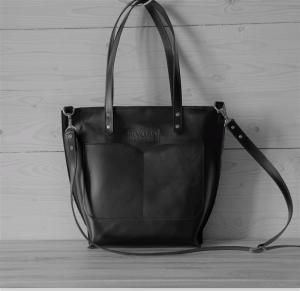Сумки ручної роботи Kvoka Shopper Black