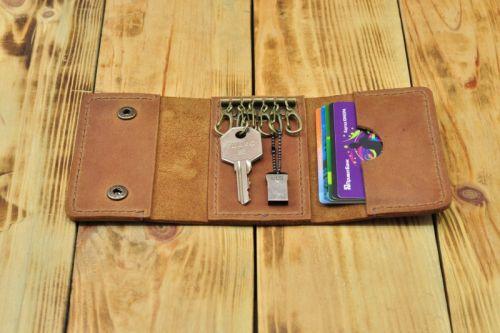 Кошелек из кожи для карточек и ключей