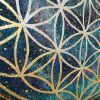 Цветок жизни  Холст, акрил, стразы, пот Палий Наталья - фото 4