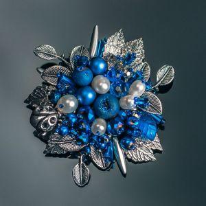 Броши ручной работы Parisian blue