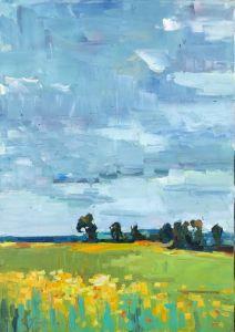 Картины маслом Подсолнечное поле