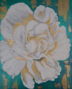 Картины графика Белый цветок