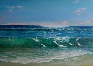 Картини маслом Хвиля