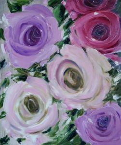 Нарисованные картины Розы