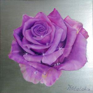 Мальовані картини Троянда