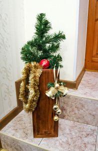 Изделия из дерева ручной работы Ваза из натурального дерева в стиле лофт