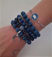 Сет синих браслетов