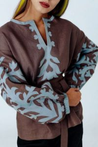 """Блузки вышиванки Вышитая блуза """"Зимнее утро"""""""