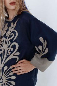 "Блузки вышиванки Вышитая блуза ""Вечерний сад"""