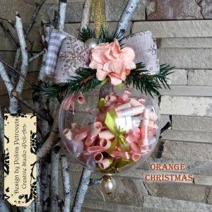 """Декор для дому Прикраса на ялинку """"ORANGE CHRISTMAS"""""""