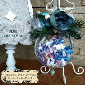 "Декор для дому Прикраса на ялинку ""BLUE CHRISTMAS"""
