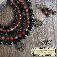 """Комплект ожерелье и серьги """"Волшебная царица"""""""