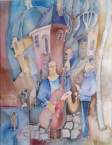 Нарисованные картины Весенняя музыка