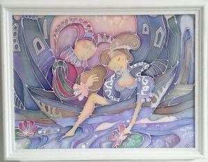Нарисованные картины В волшебной лодке