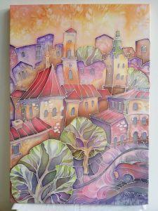 Нарисованные картины Город надежд