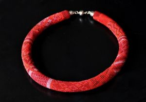 """Плотницькая Елена Beaded necklace """"In the Reds"""""""