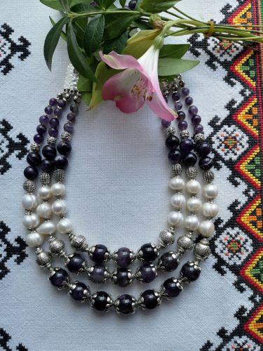 """Ожерелье """"Аметистовая орхидея"""" - изображение 1"""