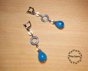 Сережки «Голубий мускат»