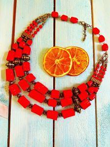 Ожерелье из коралла Пасхальное