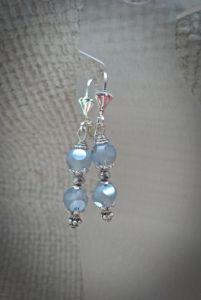 Блакитні сережки Срібна паморозь