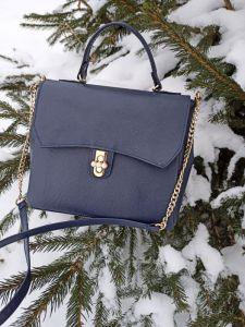 Процюк Виктория Кожаная женская сумочка на длинном ремешке