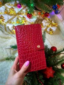 Кошельки ручной работы Женский красный кожаный кошелек