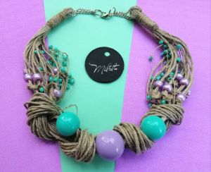 "Necklaces Еко намисто ""Лаванда і м'ята"""