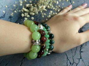"""Піщерікова Марина Набір з чотирьох браслетів """"Ідеальне поєднання"""". Браслет з натуральних каменів."""