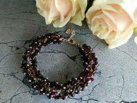 Гранатовый браслет из натуральных камней