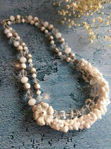 """Двухрядное колье """"Тадж Махал"""" из натурального камня. Подарок девушке."""