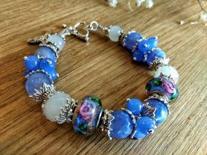 """Блакитний браслет Жіночий браслет """"Весняний"""". Подарунок дівчині."""
