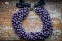 Деревянное фиолетовое с бисером