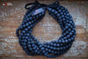 Ожерелье из дерева Деревянное темно-синее
