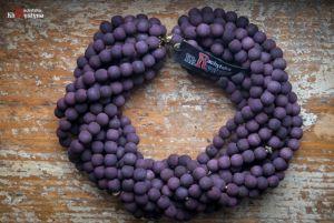 Ожерелье из дерева Деревянное фиолетовое