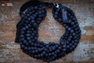 Ожерелье из дерева Деревянное черное