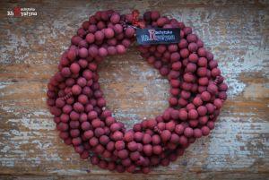 Ожерелье из дерева Деревянное вишневое