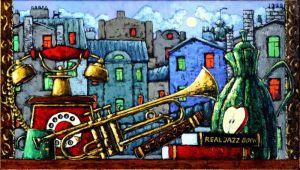 Картини маслом Натюрморт із джазовими нотками