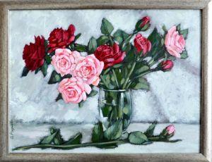 Мальовані картини Троянди для закоханих