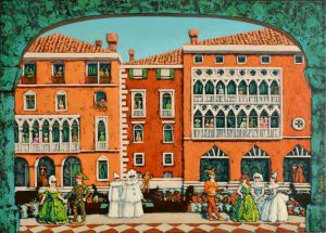 Мальовані картини Карнавальна Венеція